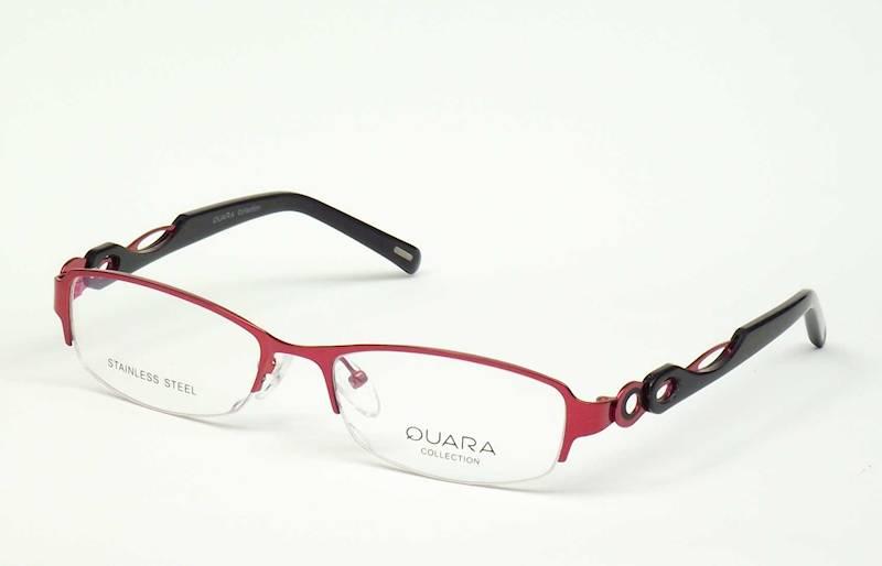 Oprawa okularowa QR1301 C02 Quara - burgund/czarny