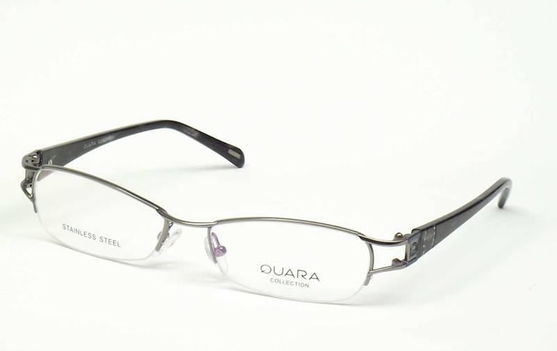 Oprawa okularowa QR1302 C02 Quara - srebrny/czarny