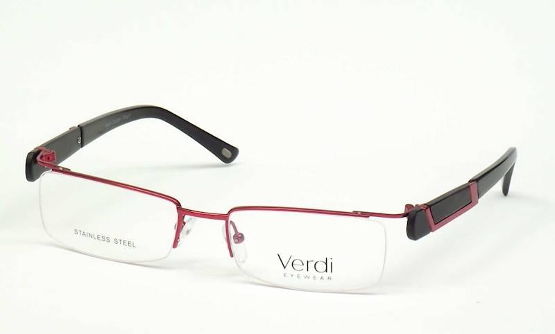 Oprawa okularowa VD1225 C02 Verdi - burgund/czarny