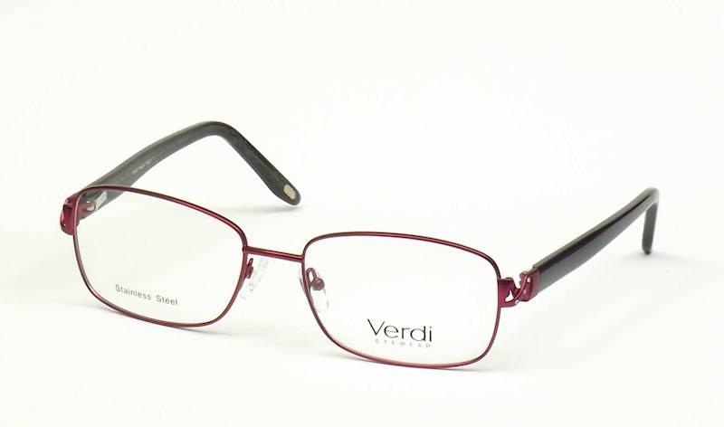 Oprawa okularowa VD1171 C02 Verdi - burgund/czarny