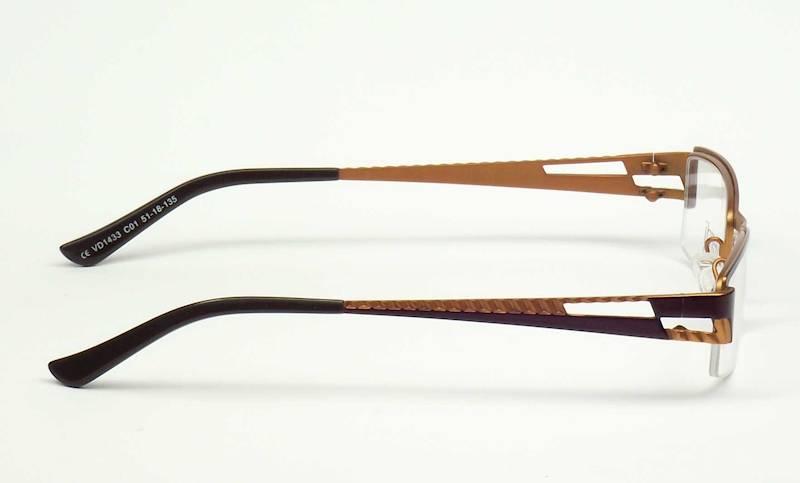 Oprawa okularowa VD1433 C01 Verdi - brąz/pomarańcz