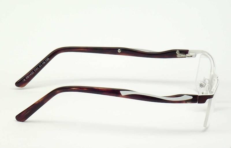 Oprawa okularowa VD1432 C01 Verdi - brąz/biały