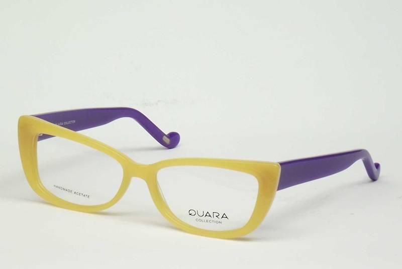 Oprawa okularowa QR1032 C02 Quara - żółty/fiolet.