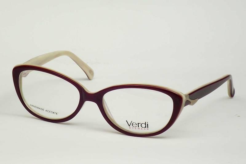 Oprawa okularowa VD1529 C04 Verdi - burgund/beż