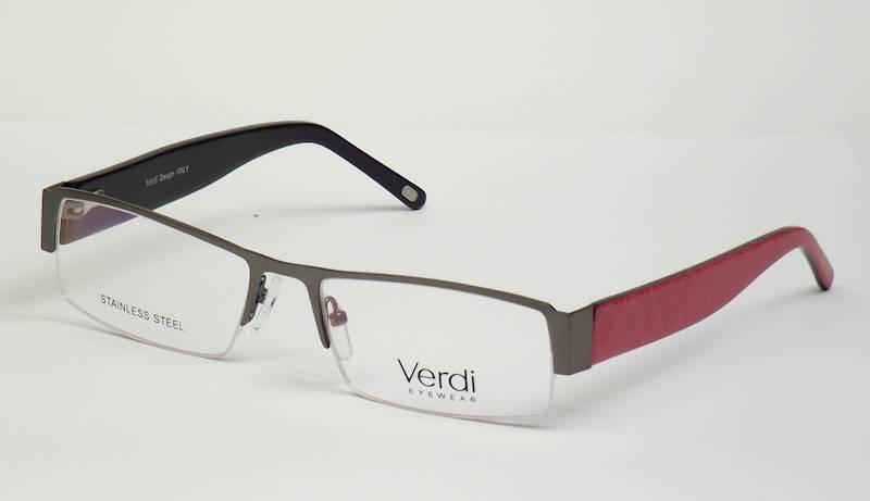 Oprawa okularowa VD1214 C05 Verdi - gun/czerwony