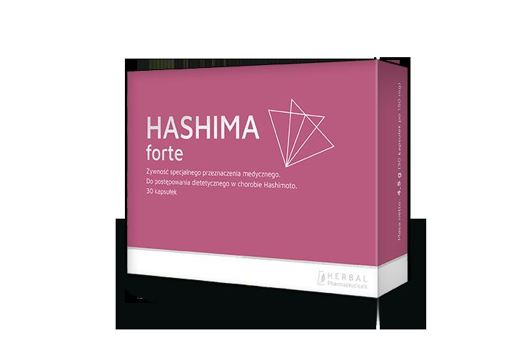 Poznaj Hashima Forte - pierwszy preparat specjalnego przeznaczenia medycznego do postępowania dietetycznego dla osób z chorobą Hashimoto.