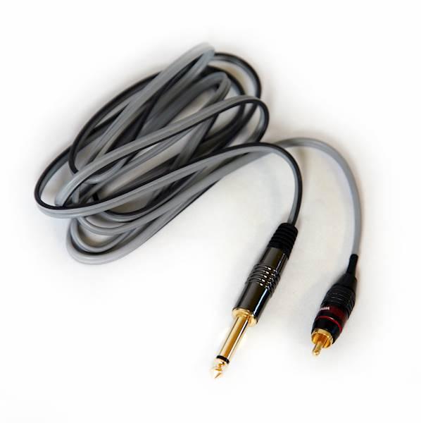 Przyłącze RCA z silikonowym kablem