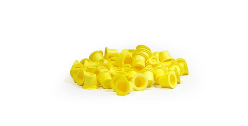 Kubeczki żółte średnie