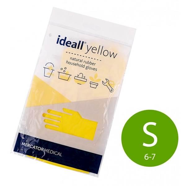 """07-Rękawice gumowe """"S"""" Mercator żółte k/240"""