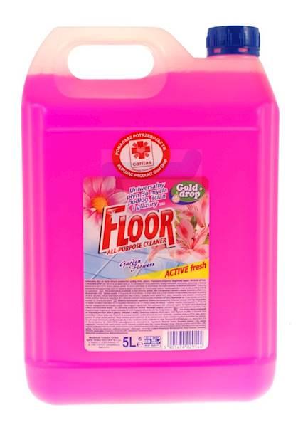 Płyn uniwersalny Floor 5L kwiat ogrodów różowy