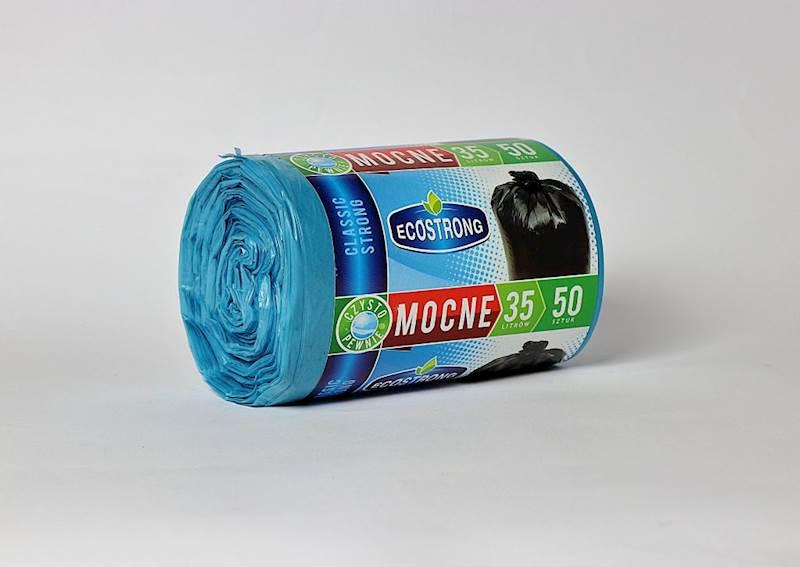 Worki na śmieci LD 35L a'50 niebieskie strong
