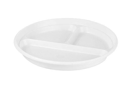 10-Talerz plastikowy 3-dzielny a'100 k/18