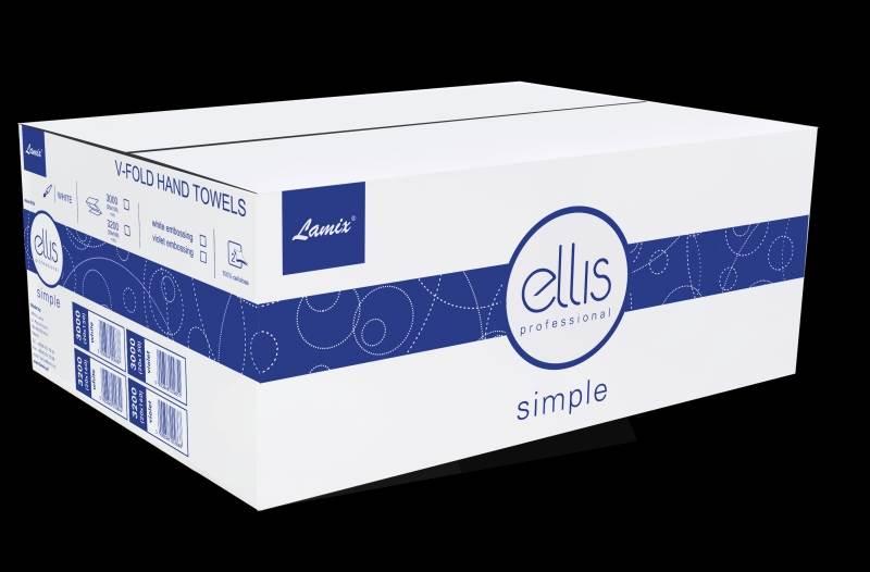 15-Ręcznik ZZ ELLIS Simple celuloza 2w biały /3000