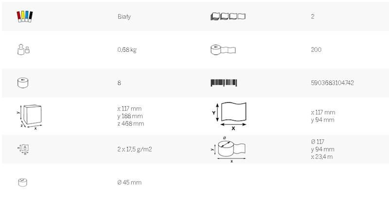 Katrin papier toaletowy classic 200 23,4mb a'8 w/5