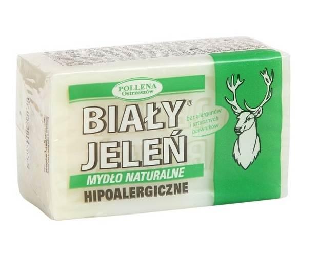 28-Biały jeleń mydło 150g szare k/60