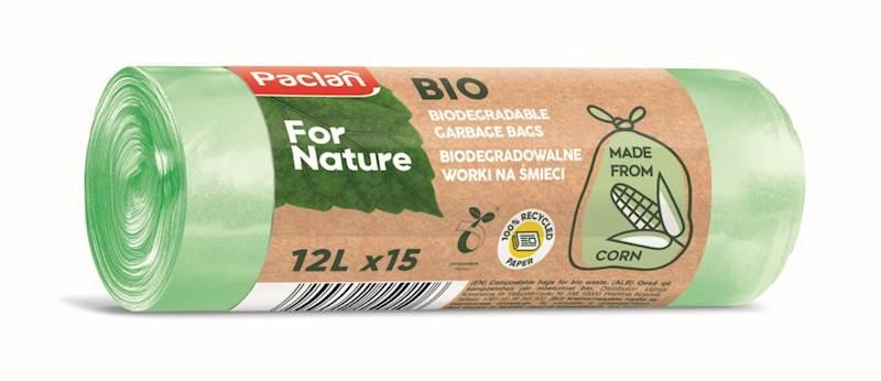 Worki na śmieci biodegradowalne BIO 12L