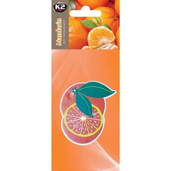 V162 FRUTTI MANDARIN zapach papierowy zawieszka owoce