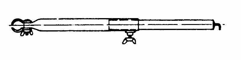 Rurka przedsionka 170-250cm hak/zacisk 25mm