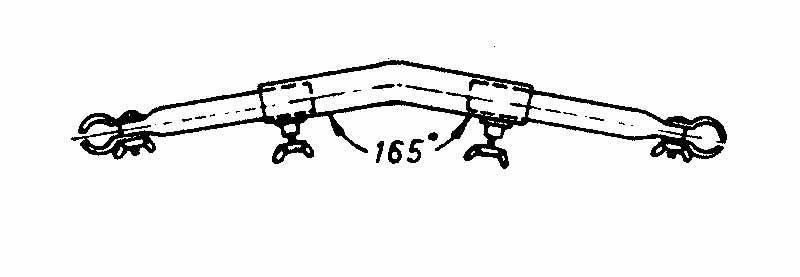Rurka przedsionka wygieta 170-250 stal 22mm