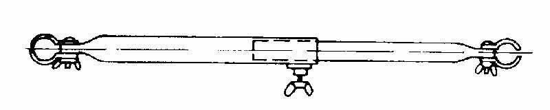 Rurka przedsionka podtrzymuja stal 70-120cm, 2-częściowy