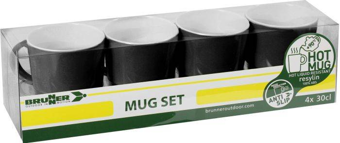 Kubki z melaminy - Mug Set ABS Black Brunner
