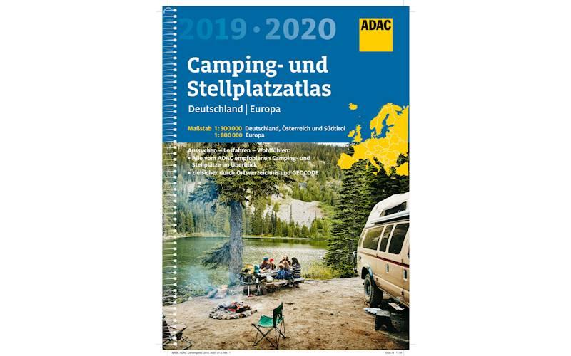 ADAC Kempingi i Miejsca postojowe Atlas Niemcy i Europa 2019