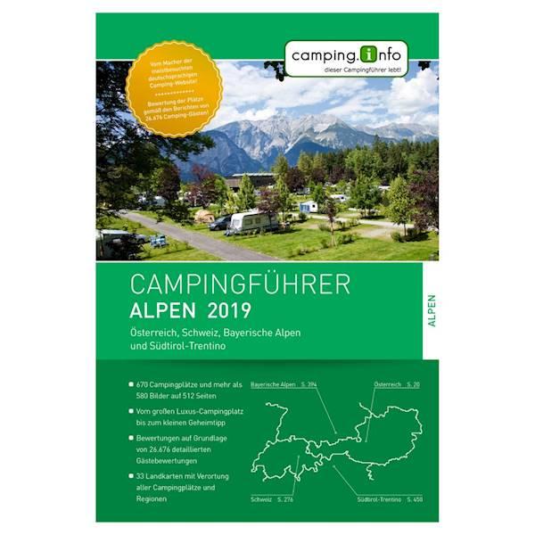 Przewodnik camping.info Alpen 2019