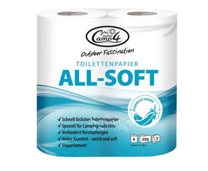 Papier toaletowy CAMP4, 2-warstwowy, 4 rolki