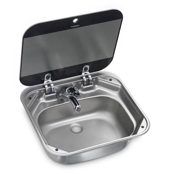 Zlewozmywak prostokątny ze szklaną pokrywą VA8005 Dometic