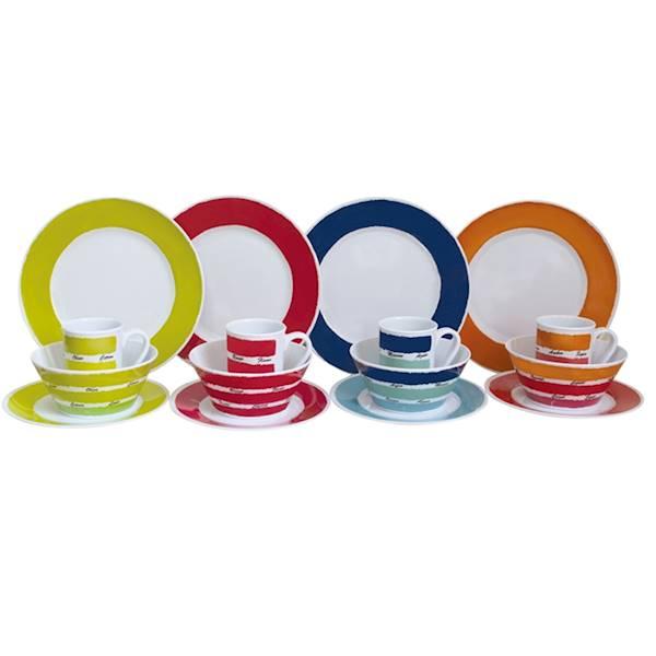 Zestaw obiadowy Colors Design 16el. melamina Flamefield