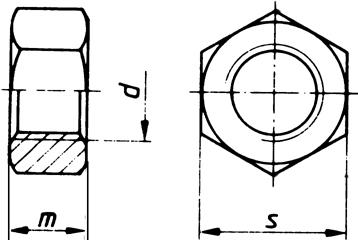 DIN934A2-70 M8 NAKRĘTKA SZEŚCIOKĄTNA PN 82144