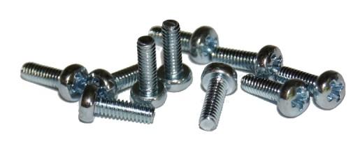 DIN 7985 A2 Wkręt do metalu nierdzewny, łeb kulisty, nacięcie H