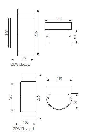 OPRAWA ZEWN GU10 ZEW EL-235U-GR 22443
