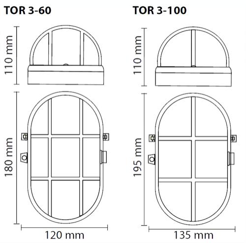 GXTT002 OPR. PRZEM. 60W TOR3-60/P E27 SIA.PLASTIK