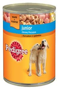 PEDIGREE JUNIOR 400G KURCZAK