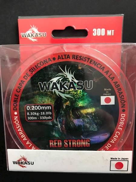 Żyłka WAKASU czerwona 0,200mm 300m