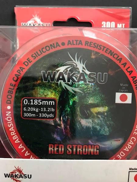 Żyłka WAKASU czerwona 0,185mm 300m