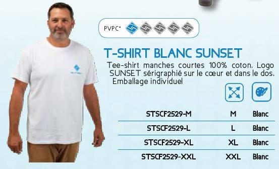 TSHIRT BLANC SUNSET