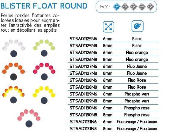 Perły okrągłe pływajace SUNSET fosfo różowy 6mm