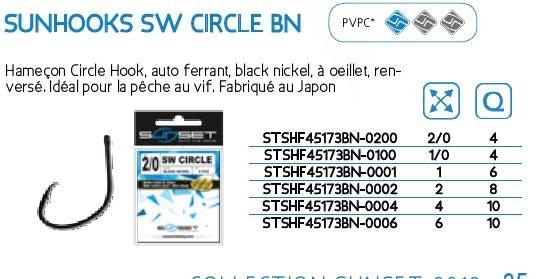 Haczyki SUNHOOKS SW CIRCLE BN
