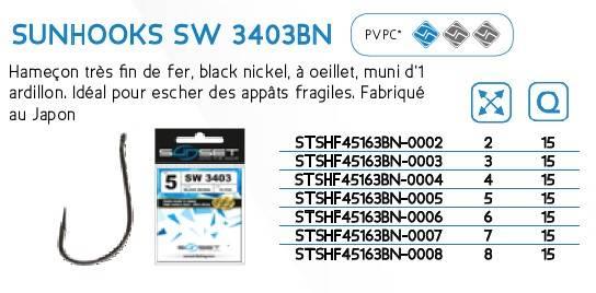 Haczyki SUNHOOKS SW 3403BN