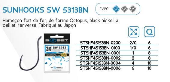 Haczyki SUNHOOKS SW 5313BN