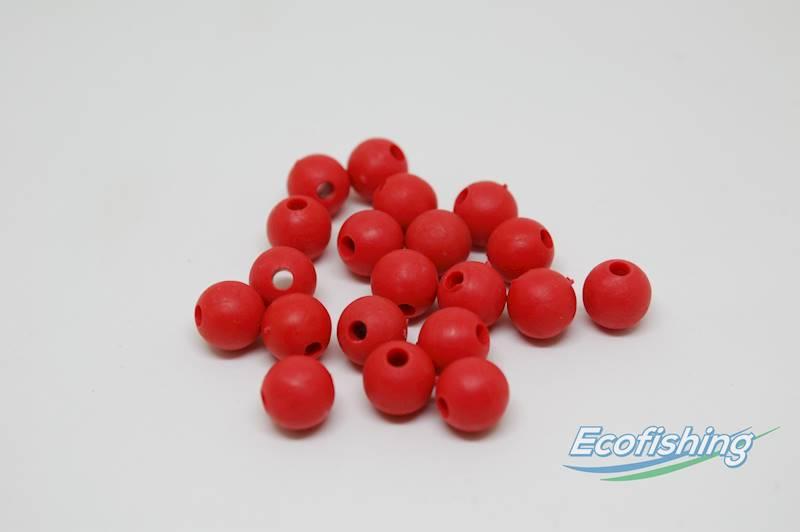 perełki czerwone miękkie 8 mm