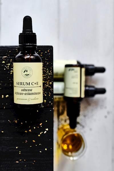 SERUM C + E odnowa olejkowo - witaminowa geranium&szałwia