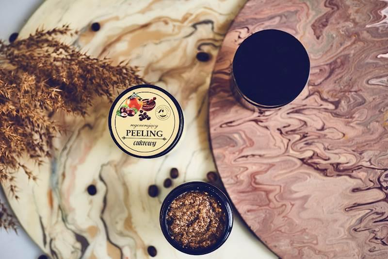 PEELING CUKROWO-KAWOWY kawa, pomarańcza, orzech laskowy