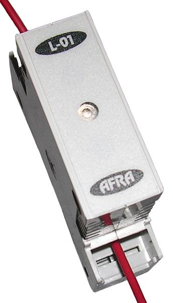 DIODA NA SZYNĘ R 230V AC L-01