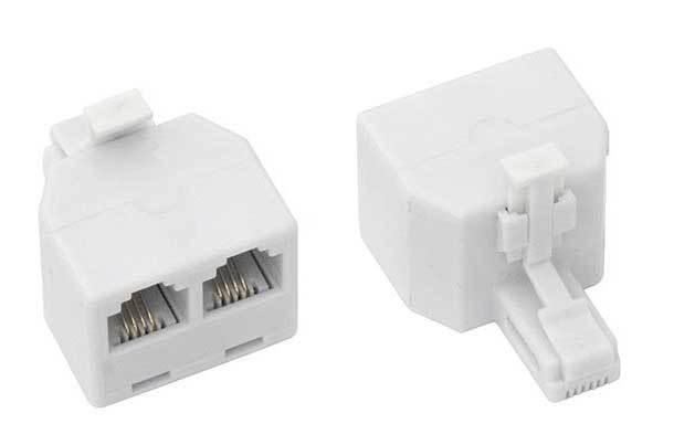 Adapter 4C wtyk - 2* gniazdo