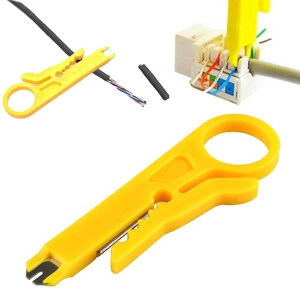 Ściągacz izolacji, zaciskacz LSA HT318 żółty