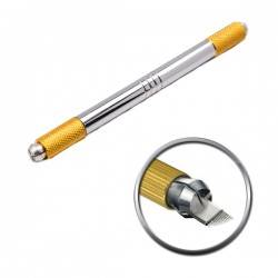 PEN DO MICROBLANDINGU DUO DM-002 gold