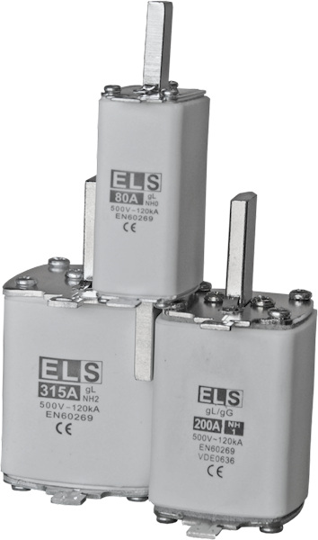 Wkładka bezpiecznikowa ELS NH0 63A gL 500V 120kA
